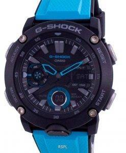 Casio G-Shock Standard Analog Digital Carbon Core Taucher GA-2000-1A2 GA2000-1A2 200M Herrenuhr