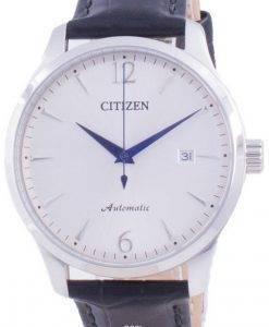 Citizen Silver Dial Kalbslederarmband Mechanisch NJ0110-18A Herrenuhr
