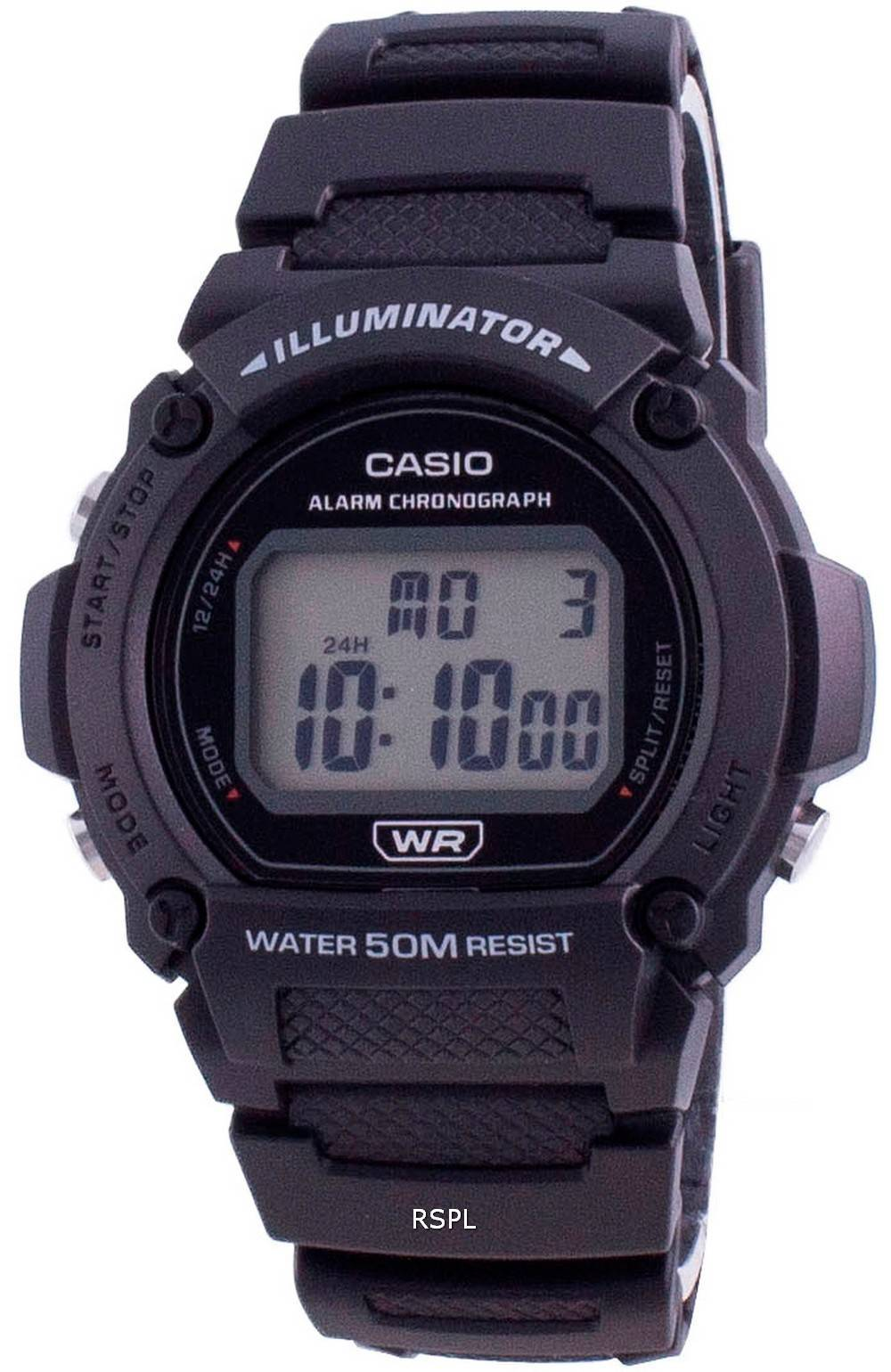 Casio Jugendbeleuchtung Digital W-219H-1A W-219H-1 Herrenuhr